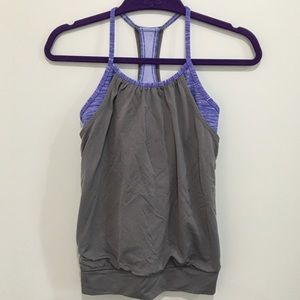 Ivivva double dutch built in bra shelf tank purple